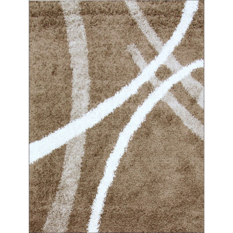 Modern Shag Rug Dark Beige - Rugs Of Beauty
