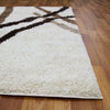 Modern Shag Rug Ivory Beige Brown - Rugs Of Beauty