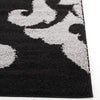 Damask Pattern Shag Rug Black Grey - Rugs Of Beauty
