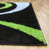 Urban Curves Rug Black Green - Rugs Of Beauty