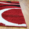 Urban Curves Shag Rug Red Black - Rugs Of Beauty