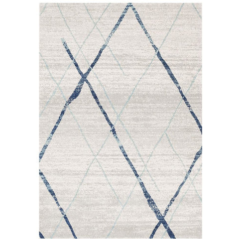 Kemi 1152 Blue Modern Tribal Boho Rug - Rugs Of Beauty - 1
