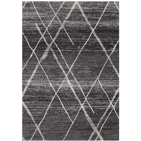 Kemi 1152 Charcoal Grey Modern Tribal Boho Rug - Rugs Of Beauty - 1