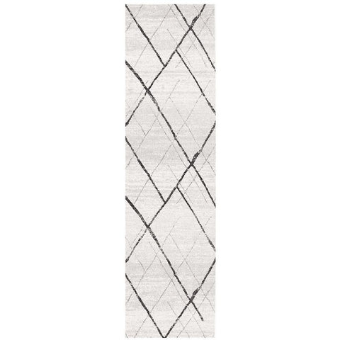 Kemi 1152 Grey Modern Tribal Boho Runner Rug - Rugs Of Beauty - 1