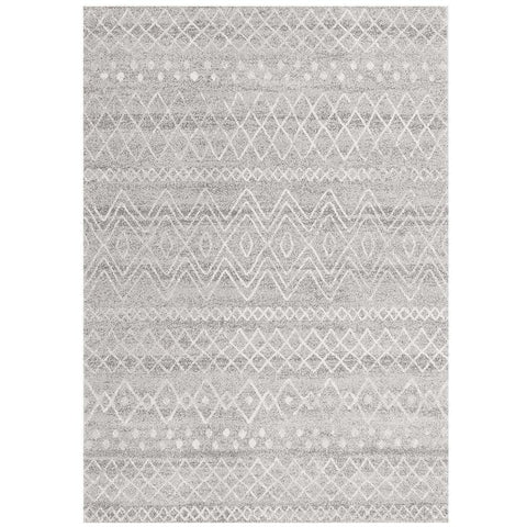 Kemi 1153 Grey Modern Tribal Boho Rug - Rugs Of Beauty - 1