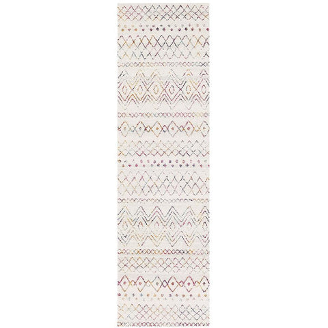 Kemi 1153 Multi Coloured Modern Tribal Boho Runner Rug - Rugs Of Beauty - 1