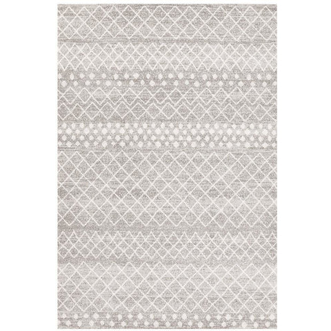 Kemi 1154 Silver Grey Modern Tribal Boho Rug - Rugs Of Beauty - 1