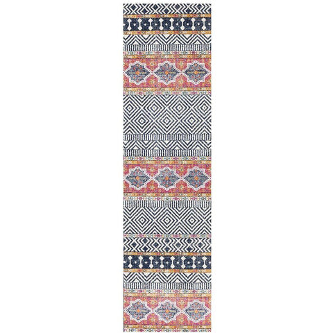 Kemi 1155 Multi Coloured Modern Tribal Boho Runner Rug - Rugs Of Beauty - 1
