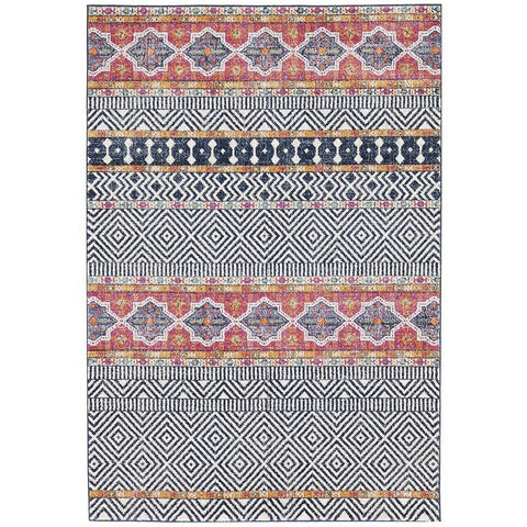 Kemi 1155 Multi Coloured Modern Tribal Boho Rug - Rugs Of Beauty - 1