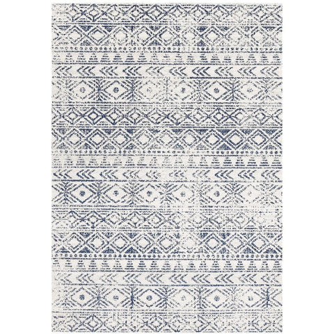 Kemi 1156 Blue Modern Tribal Boho Rug - Rugs Of Beauty - 1