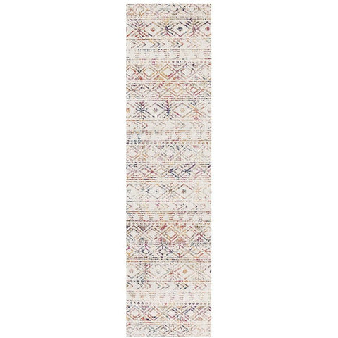 Kemi 1156 Multi Coloured Modern Tribal Boho Runner Rug - Rugs Of Beauty - 1