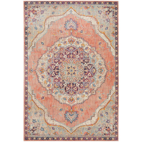 Minya 1645 Terracotta Multi Colour Transitional Rug - Rugs Of Beauty - 1