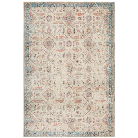 Minya 1647 Bone Multi Colour Transitional Rug - Rugs Of Beauty - 1