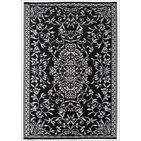 Alfresco Indoor/Outdoor Rugs - Chatai 100001-Black - Rugs Of Beauty - 1