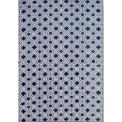 Alfresco Indoor/Outdoor Rugs - Chatai 100028-Black/White - Rugs Of Beauty - 1