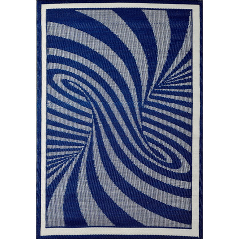 Alfresco Indoor/Outdoor Rugs - Chatai 100037-Navy/Charcoal - Rugs Of Beauty - 1