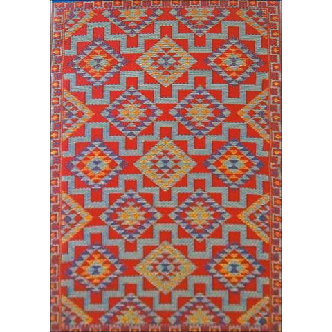 Alfresco Indoor/Outdoor Rugs - Chatai 100039-Rust - Rugs Of Beauty - 1