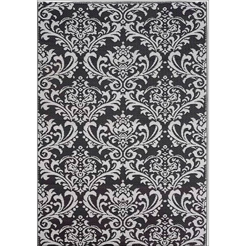 Alfresco Indoor/Outdoor Rugs - Chatai 100051-Grey/White - Rugs Of Beauty - 1