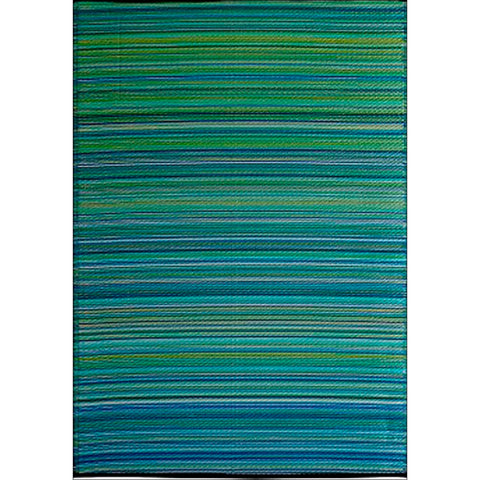 Alfresco Indoor/Outdoor Rugs - Chatai 100059-Aqua - Rugs Of Beauty - 1