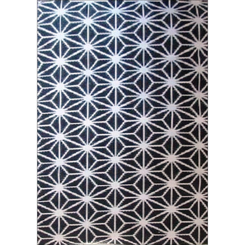Alfresco Indoor/Outdoor Rugs - Chatai 100066-Black/White - Rugs Of Beauty - 1