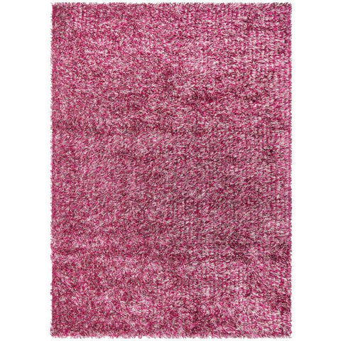 Barcelona Soft Shag Rug Mauve Red White Pink - Rugs Of Beauty - 1