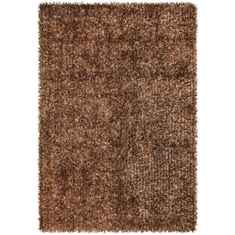 Barcelona Soft Shag Rug Brown Beige - Rugs Of Beauty - 1