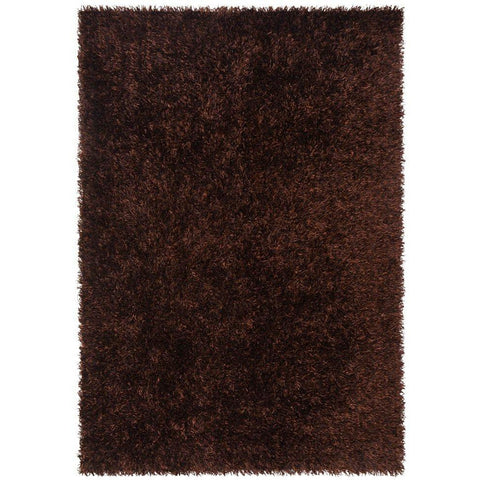 Barcelona Soft Shag Rug Dark Chocolate Brown - Rugs Of Beauty - 1