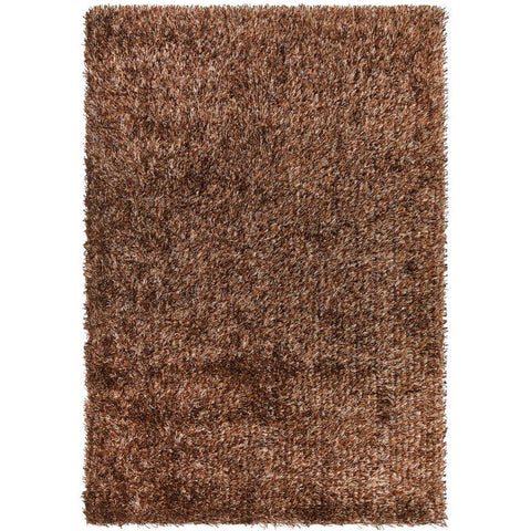 Barcelona Soft Shag Rug Dark Brown Beige - Rugs Of Beauty - 1