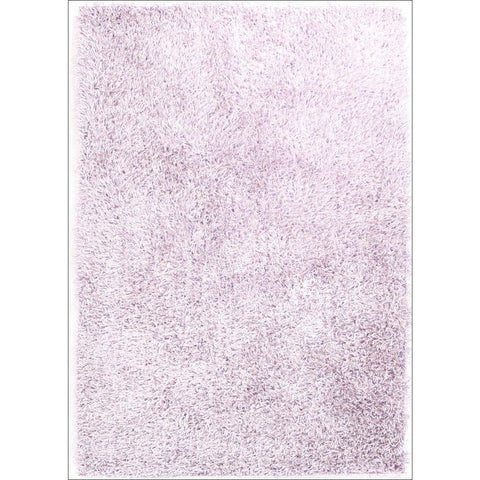Barcelona Soft Shag Rug Light Purple White - Rugs Of Beauty - 1