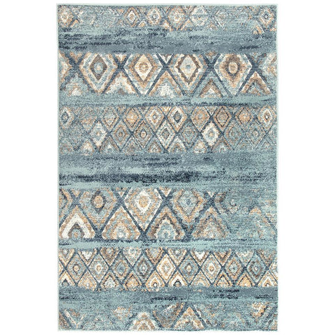 Caliente 320 Multi Coloured Diamond Patterned Traditional Rug - Rugs Of Beauty - 1