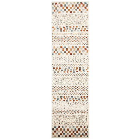 Caliente 321 Beige Earth Multi Coloured Patterned Traditional Runner Rug - Rugs Of Beauty - 1