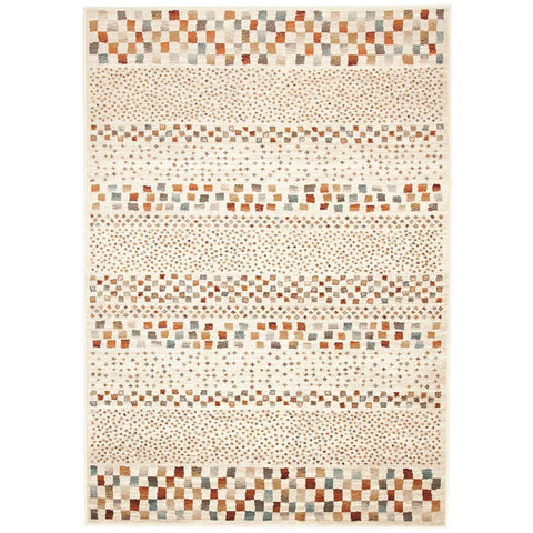 Caliente 321 Beige Earth Multi Coloured Patterned Traditional Rug - Rugs Of Beauty - 1