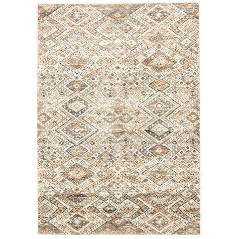 Caliente 324 Beige Earth Multi Coloured Patterned Traditional Rug - Rugs Of Beauty - 1