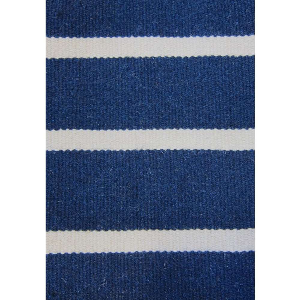 Baris Navy Blue And White Striped Flat Weave Rug Rugs Of