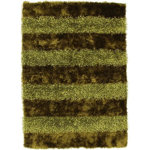 Panels Designer Shag Rug Green - Rugs Of Beauty