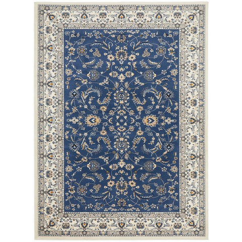 Alaman 2230 Blue White Traditional Pattern Rug - Rugs Of Beauty - 1