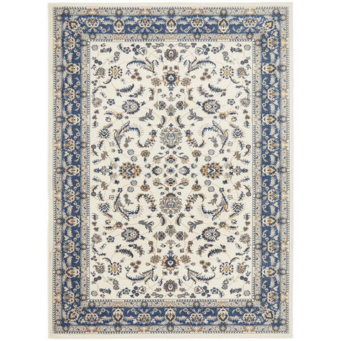 Alaman 2230 White Blue Traditional Pattern Rug - Rugs Of Beauty - 1