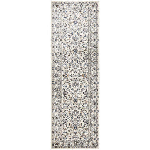 Alaman 2230 White Traditional Pattern Runner Rug - Rugs Of Beauty - 1