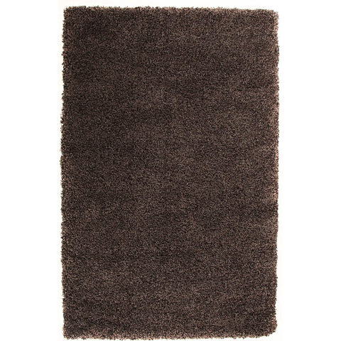 Camden Cocoa Brown Modern Plush Shaggy Rug - Rugs Of Beauty