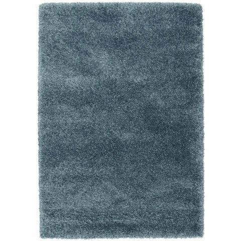 Camden Teal Blue Modern Plush Shaggy Rug - Rugs Of Beauty
