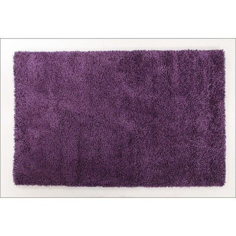 Camden Plum Purple Modern Plush Shaggy Rug - Rugs Of Beauty