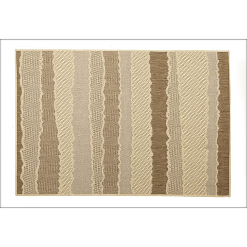 Indoor Outdoor Wave Rug Beige Brown - Rugs Of Beauty