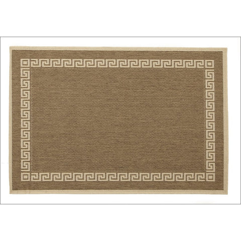 Indoor Outdoor Key Design Rug Brown - Rugs Of Beauty