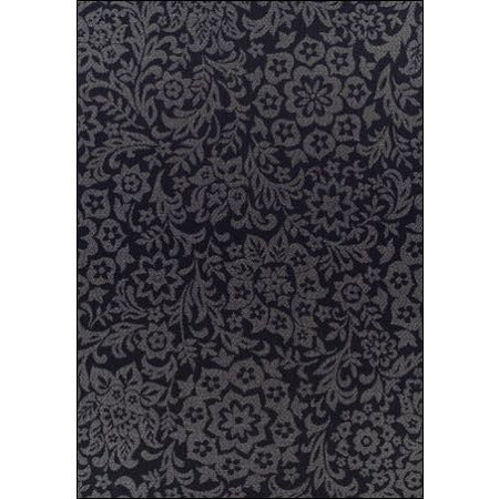 Indoor Outdoor Damask Pattern Rug Black - Rugs Of Beauty