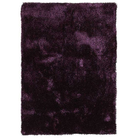 Palos Eggplant Purple Modern Plush Microfibre Polyester Shaggy Rug - Rugs Of Beauty