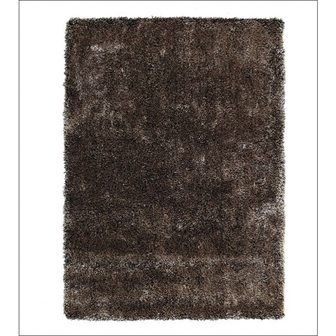Palos Gold Brown Black Modern Plush Microfibre Polyester Shaggy Rug - Rugs Of Beauty