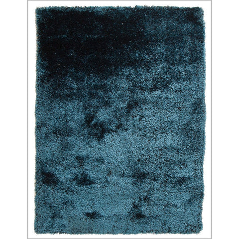 Palos Sapphire Blue Modern Plush Microfibre Polyester Shaggy Rug - Rugs Of Beauty