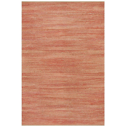 Haba 755 Coral Natural Modern Jute Cotton Rug - Rugs Of Beauty - 1
