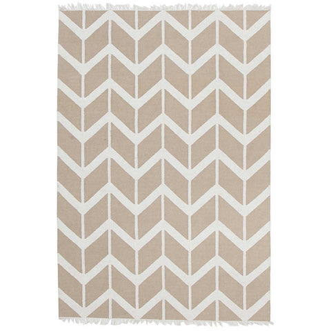 Wexford 721 Beige Cotton Designer Rug - Rugs Of Beauty - 1