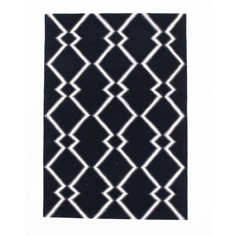 Wexford 722 Navy Designer Wool Rug - Rugs Of Beauty - 1